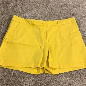 Ladies Crown and Ivy Yellow Shorts